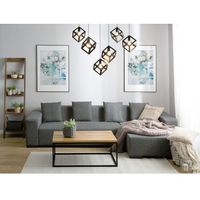 Narożniki, Sofa ciemnoszara - sofa narożna L - tapicerowana - LUNGO