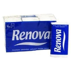 RENOVA 6szt Red Label White Chusteczki Higieniczne
