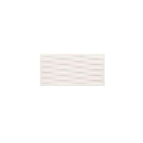 Glazura i terakota, płytka ścienna Basic Palette white braid satin 29,7 x 60 OP631-026-1