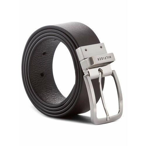 Paski, Tommy Hilfiger Pasek Męski Hilfiger Loop Belt 3.5 Rev AM0AM03111 90 Czarny