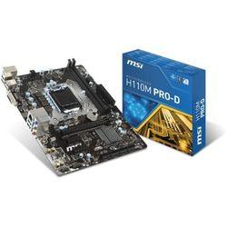 Płyta MSI H110M PRO-D /H110/DDR4/SATA3/USB3/PCIe3.0/s.1151/mATX