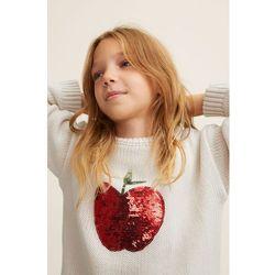 Mango Kids - Sweter dziecięcy Apple 110-164 cm