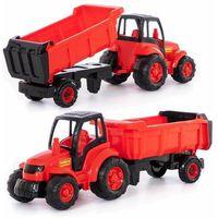 Traktory dla dzieci, Pojazd Mistrz Traktor z naczepą w siatce
