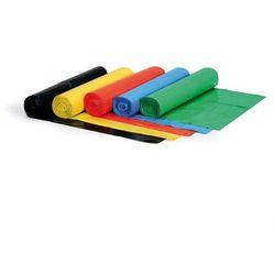 Worek na śmieci 120 litrów, 700 x 1100 mm, LDPE, 50 mikronów, żółty