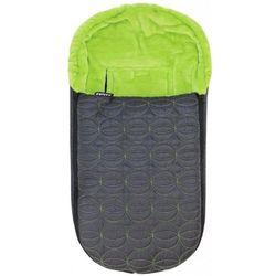 Emitex niemowlęcy śpiworek zimowy ELIPSE, czarny/zielony