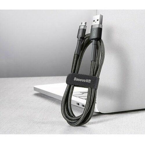 Smartbandy, Baseus Cafule | Kabel nylonowy USB - Micro-USB dwustronne złącze Quick Charge 2.4A 50cm