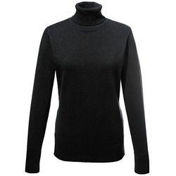 Sweter z golfem bonprix czarny