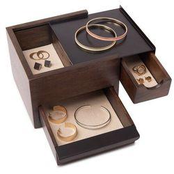 Umbra - pudełko na biżuterię mini stowit - orzech włoski