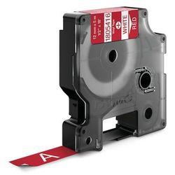 Dymo taśma do drukarek etykiet 1805416, biały druk/czerwony podkład, 5.5m, 12mm