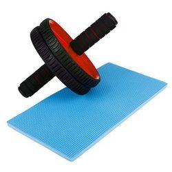 Podwójny wałek do fitness Hop-Sport - czerwony