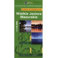 Mapy i atlasy turystyczne, Wielkie Jeziora Mazurskie. Mapa turystyczna w skali 1:110 000 (opr. miękka)