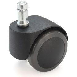 Rolka do krzesła, z bolcem wtykowym z pierścieniem zaciskowym, czarne, opak. 5 s