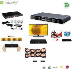 Techly Rozdzielacz-splitter AV HDMI 2.0 1/4 Ultra HD 4Kx2K 3D