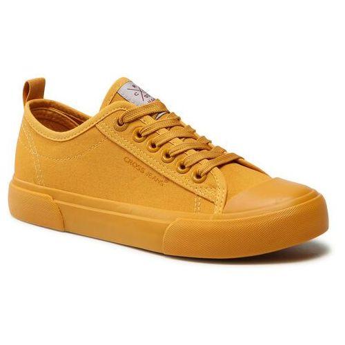 Damskie obuwie sportowe, Trampki CROSS JEANS - HH2R4013C Yellow