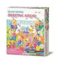 Kreatywne dla dzieci, ODLEWY GIPSOWE BROKATOWE SYRENKI - MINI MAGNESY LUB WPINKI