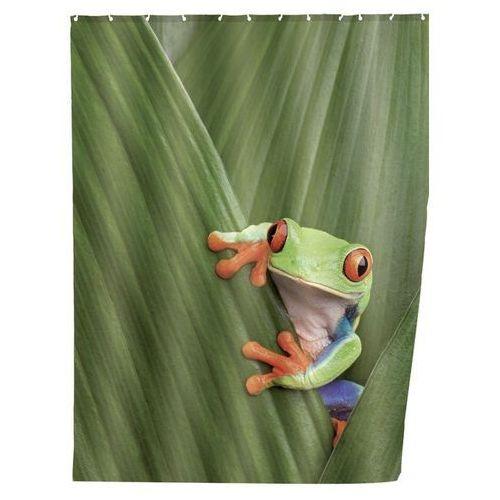 Wenko Zasłona prysznicowa, tekstylna, frog, 180x200 cm,