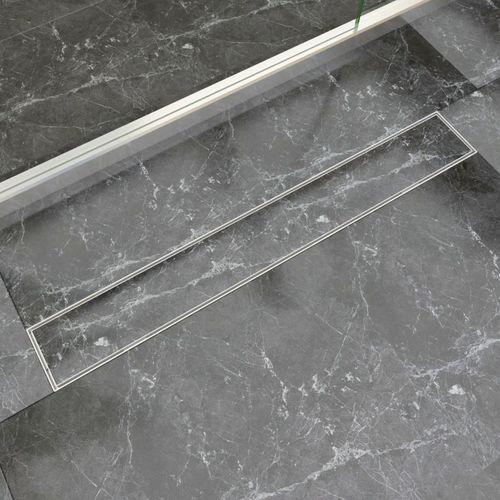 vidaXL Odpływ/Spust przysznicowy liniowy 830x140 mm, stal nierdzewna (8718475978954)