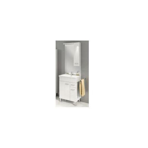 DEFTRANS CATANIA Zestaw szafka + umywalka plan 60, biały 034-Z-06006+1722