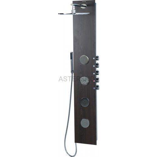 5side panel prysznicowy z baterią 155x25 cm, wenge 80213 marki Sapho