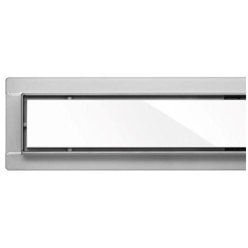 Fala Odpływ liniowy white glass 90 cm wet&dry / 75384 / - zyskaj rabat 30 zł (5906083031144)