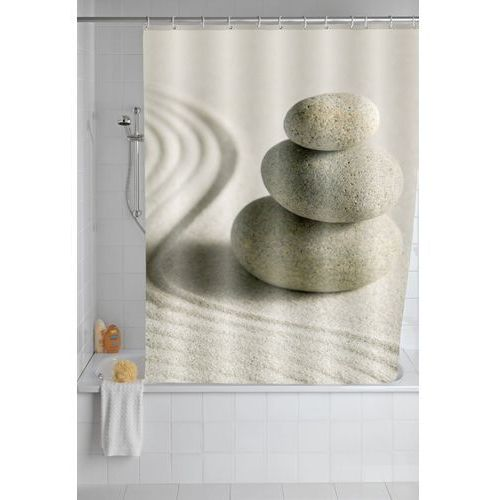 Wenko Zasłona prysznicowa sand and stone, tekstylna, 180x200 cm, (4008838138779)
