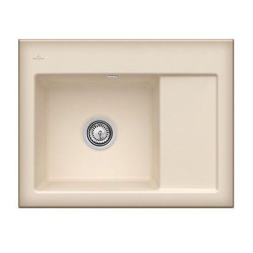 Zlew ceramiczny subway 45 compact - i2 cappuccino \ lewa \ manualny marki Villeroy & boch