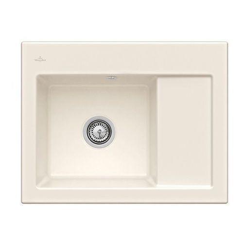 Villeroy & boch Zlew ceramiczny subway 45 compact - kr crema (błyszczący) \ lewa \ manualny