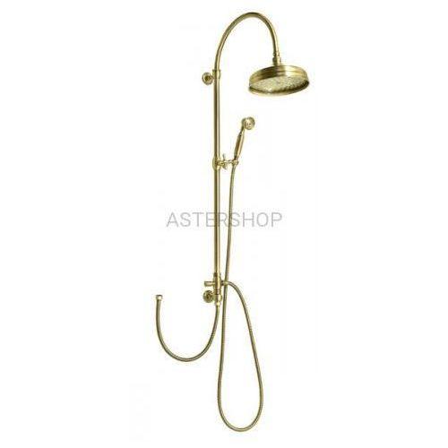 VANITY Zestaw natryskowy z rączką prysznicową do baterii ściennej, brąz SET066, SET066