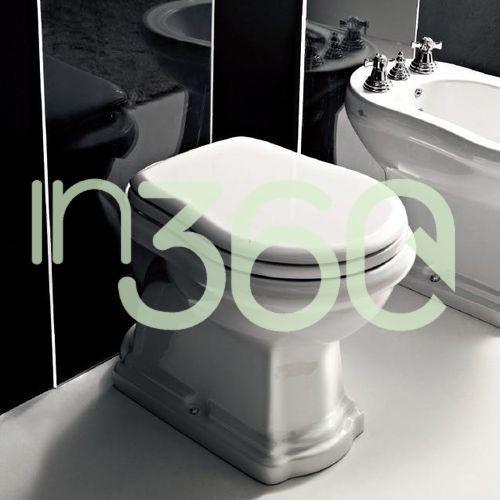 Kerasan retro miska wc stojąca odpływ poziomy biała 101101