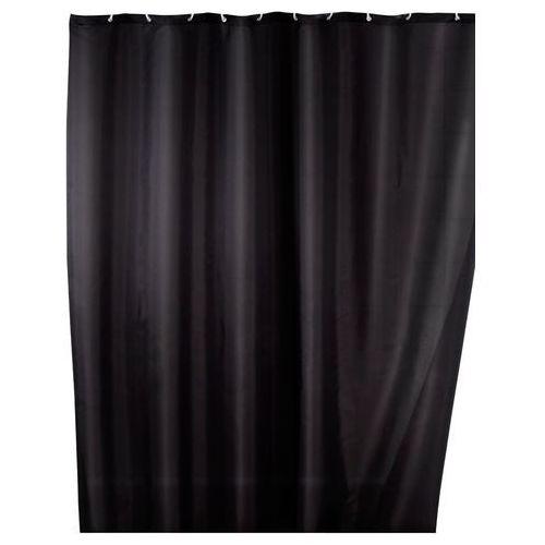 Wenko Zasłona prysznicowa, tekstylna, kolor czarny, 180x200 cm, (4008838120545)