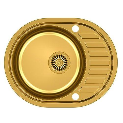 Quadron Zlewozmywak clint 211 hb7112g1k-bw7002g1 złoty + bateria ingrid (5903242532092)