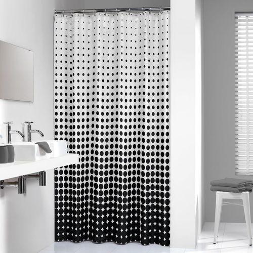 Sealskin zasłona prysznicowa speckles, 180 cm, czarna, 233601319