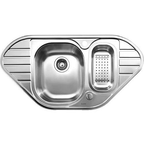 Lanis 9E Blanco zlewozmywak kuchenny narożny stal szczotkowana - 516051