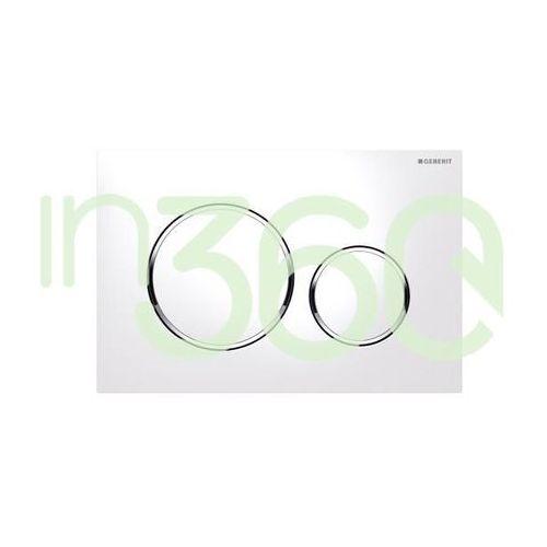 Geberit sigma20 przycisk uruchamiający przedni, biały-chrom bł.-biały 115.882.kj.1
