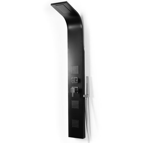 Rea Panel prysznicowy aluminiowy w kolorze czarnym 9786 black