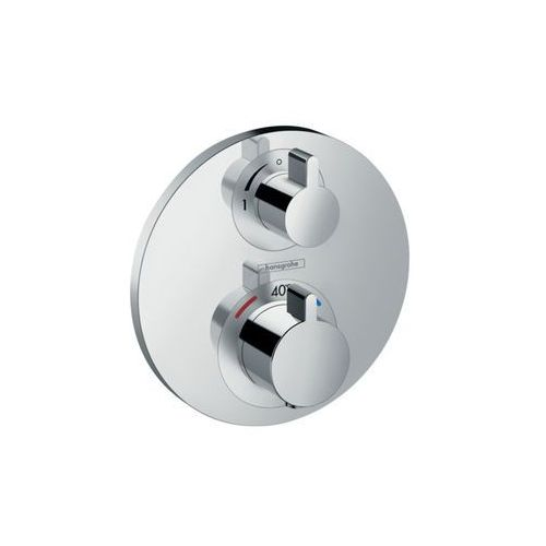 bateria termostatyczna ecostat s z zaworem odcinającym, montaż podtynkowy, element zewnętrzny ecostat s 15757000 marki Hansgrohe