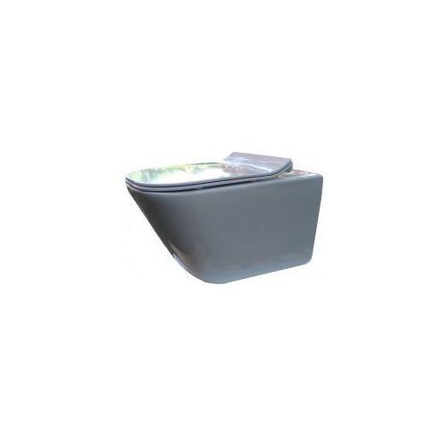 Zestawy Roca gap miska wisząca rimless maxi clean a34647l00m + deska wolnoopadająca typu slim