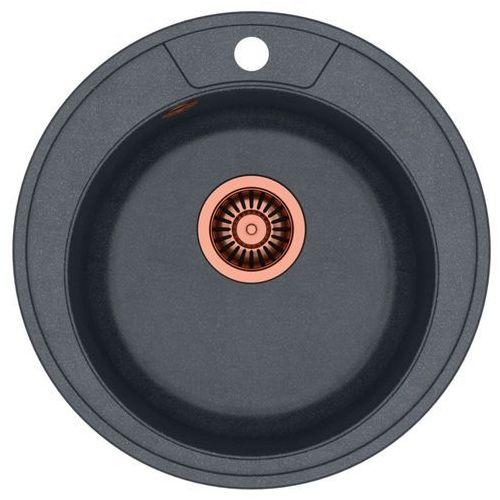 Zlewozmywak danny 210 hb8301u8c1-bw7002c1u8 czarny metalik + bateria ingrid marki Quadron
