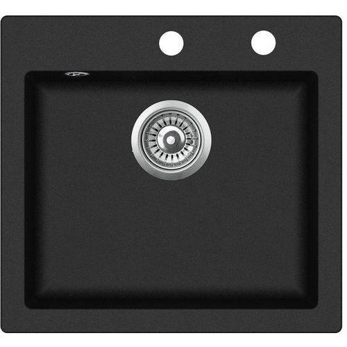 Zlewozmywak granitowy START czarny 45x49x19 cm + syfon automatyczny