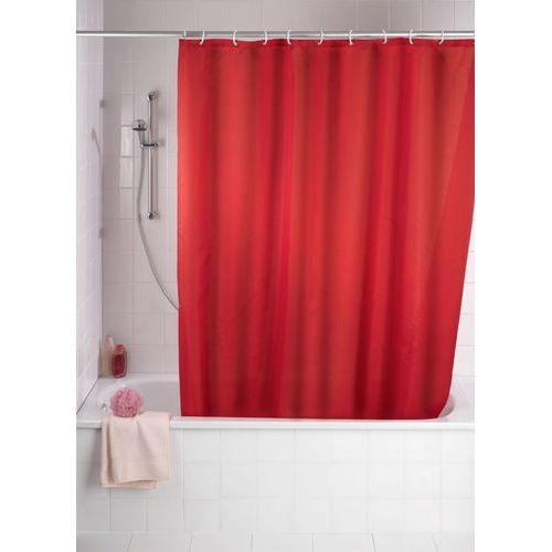 Zasłona prysznicowa, tekstylna, kolor czerwony, 180x200 cm, marki Wenko