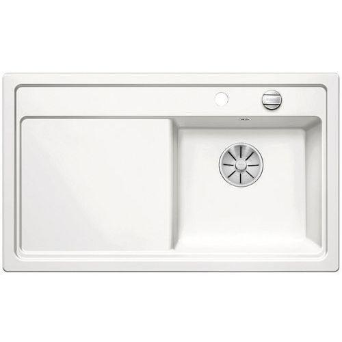Zlewozmywak ZENAR 45S ceramika biały połysk prawa komora z korkiem InFino