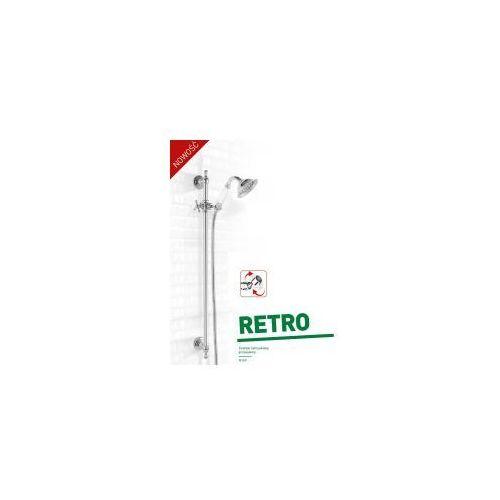 retro zestaw prysznicowy ścienny przesuwny chrom n160 marki Ferro