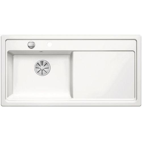 Zlewozmywak ZENAR XL 6S ceramika biały połysk lewa komora z korkiem InFino