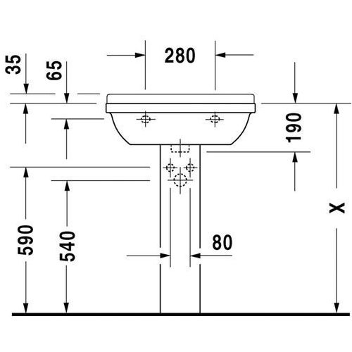Duravit Starck 3 600. mm x 450. mm (0300600000)