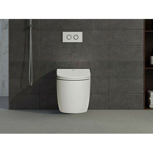 Vente-unique Inteligentna, stojąca miska wc genta – kolor biały