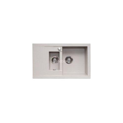 Zlew. STUDIO 78x48 1 1/2B 1D granit metalic aluminium AS 070140802, 7087-330DC