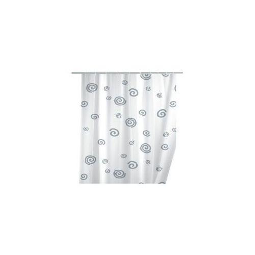 AWD INTERIOR Zasłonka prysznicowa biała ślimaki AWD02100127