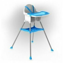 Doloni Krzesełko do karmienia dla dzieci, niebieski, 67 x 69 x 97 cm, 688687