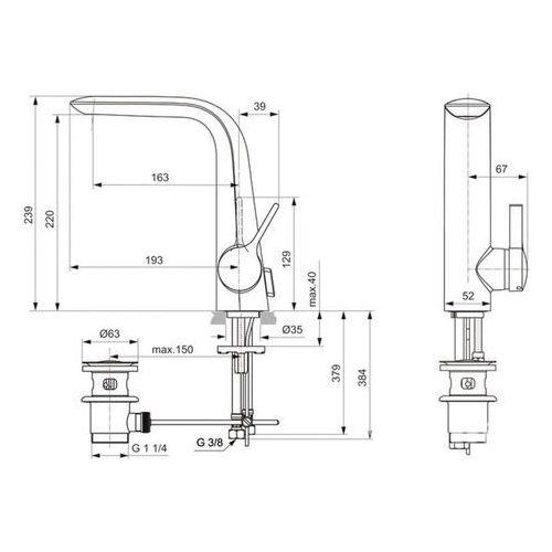 Bateria Ideal Standard Melange A6041AA