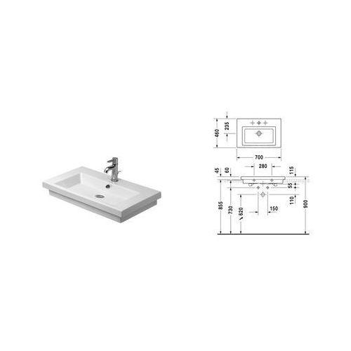 Duravit 2nd floor 70. cm x 46 (0491700027)
